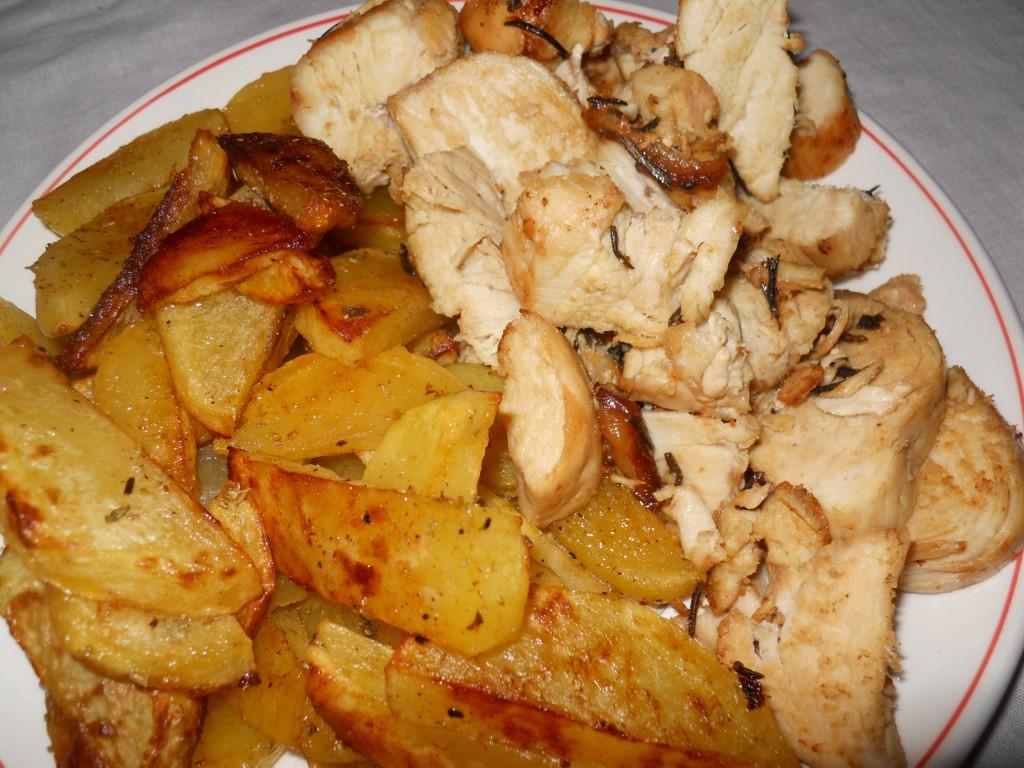 pollo e patate al forno 010