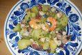 Insalata tiepida di polpo, gamberi, patate e fagiolini